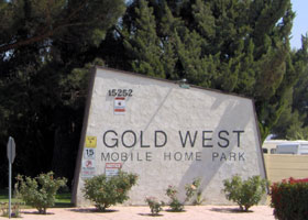 Gold West Mobile Home Park<br/>Victorville, California