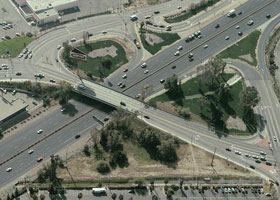 Washington Street & Mt. Vernon Avenue Interchange on I-215, Colton, California